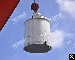 Embalagem para tanque de agitação