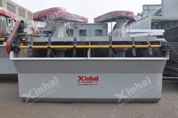 Modelo CLF de máquina de flotação de partículas grossas e pesadas