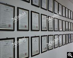 Certificados de patentes de equipamentos da Xinhai desenvolvidos independentemente
