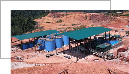 Operação da planta de seleção da mina de ouro de Xinhai