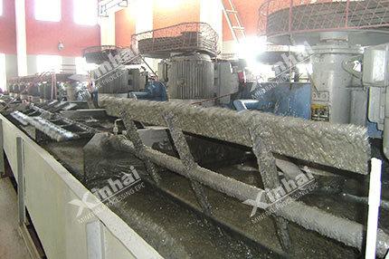 Processo de Seleção de minério de tungstênio branco