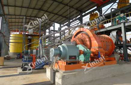 Planta de processamento de ouro aluvial